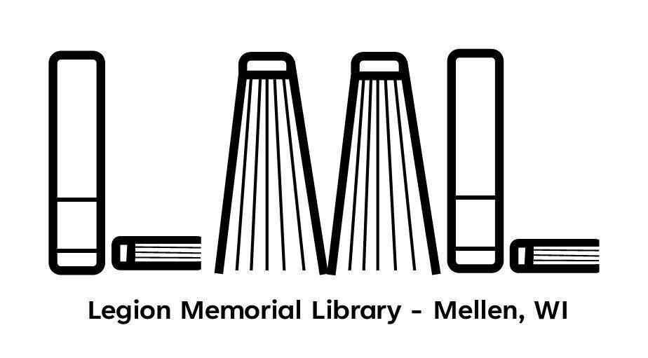 Legion Memorial Library Logo- Mellen, WI